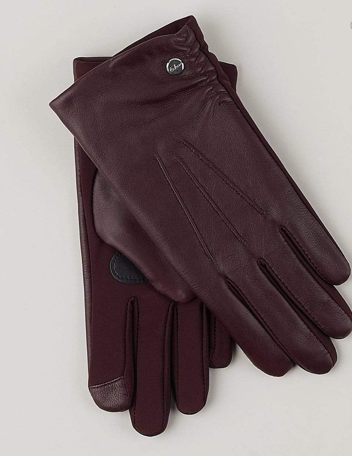 Classic leather glove Burgunder