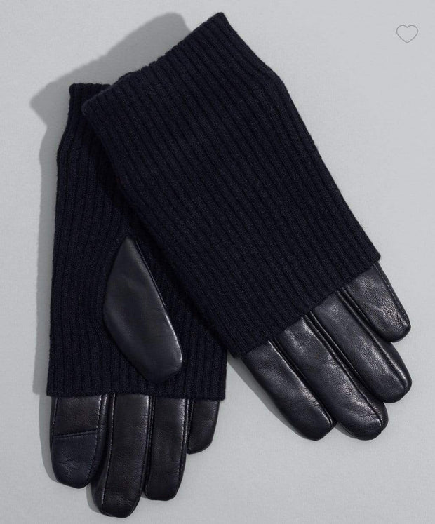 Echo Hansker Fold Down Cuff Glove Sort Sapatos