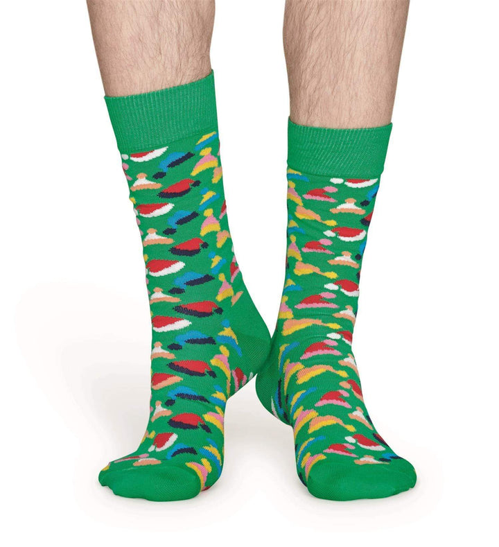 Happy Socks Sokker Santas Hats Sock Grønn Sapatos