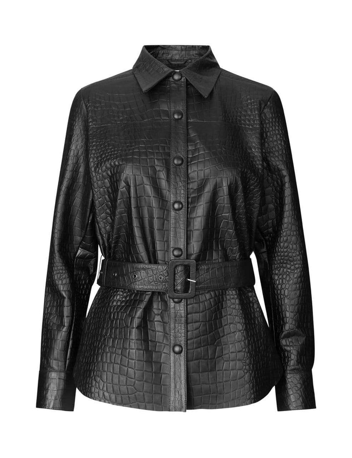 Levete Room Bluser Kylie 3 Shirt Sort Croco Sapatos