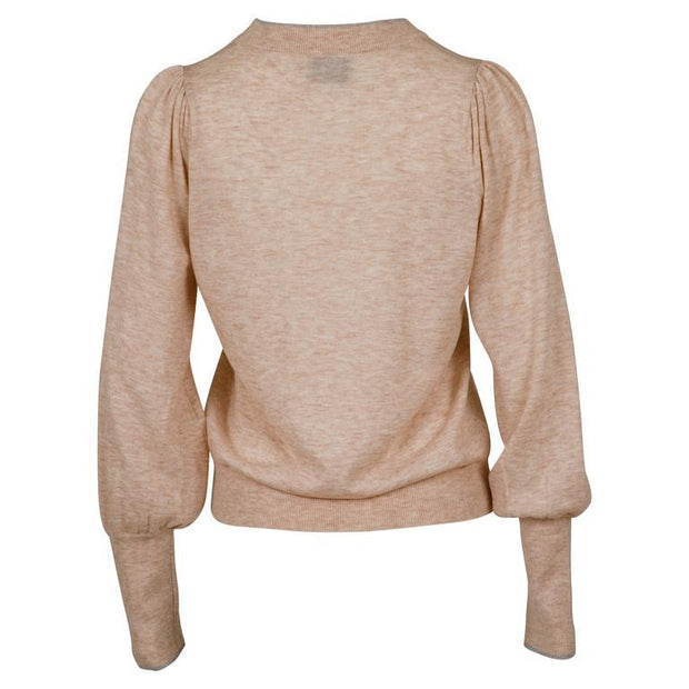 Neo Noir Gensere Magdalena Knit Blouse Beige Sapatos
