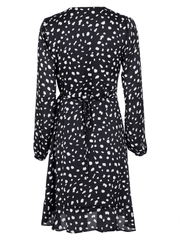 Neo Noir Kjoler Anna Dot Dress Sort Sapatos