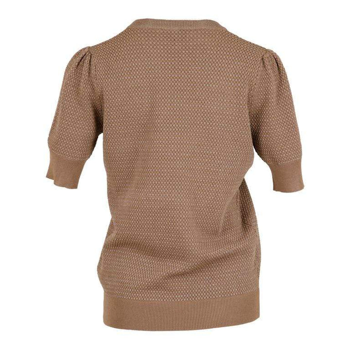 Mary knit tee Camel