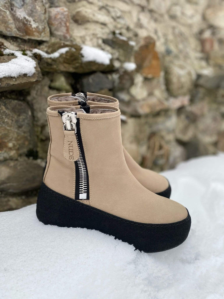 Nude of Scandinavia Boots Winter boots Beige Sapatos