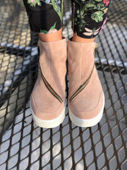 Nude of Scandinavia Sko - Sneakers Hilda sneaker gold zip Rosa Sapatos