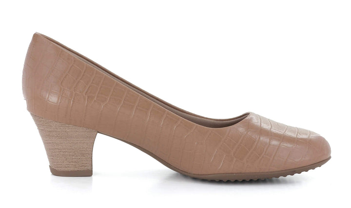 Piccadilly Pumps Klassisk pumps Beige Croco Sapatos