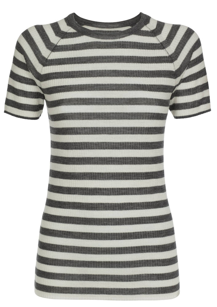 Pierre Robert Topper Jenny Skavlan Wool T-shirt Striper Sapatos