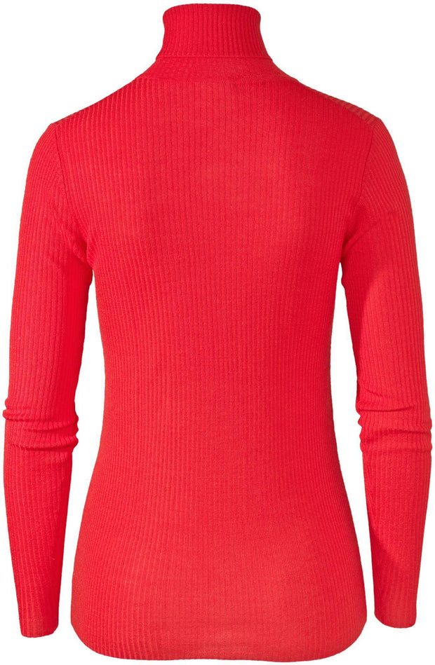 Pierre Robert Topper Jenny Skavlan Wool Turtleneck Rød Sapatos