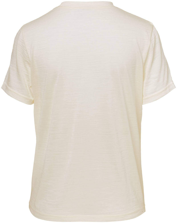 Pierre Robert Topper Jenny Skavlan Wool Wide T-shirt Kremfarget Sapatos