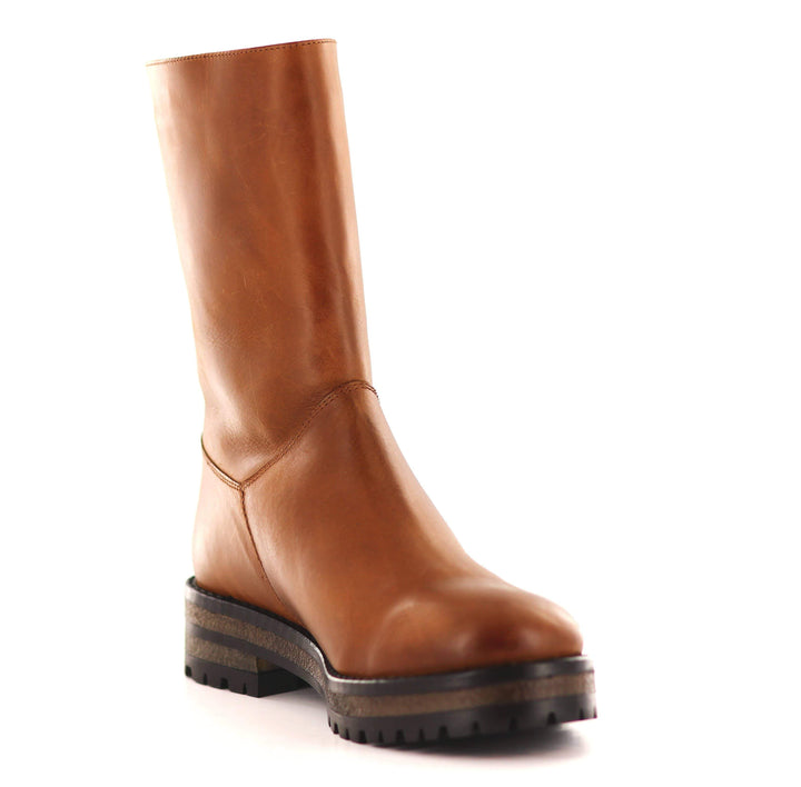 Half-height winter boot Cognac