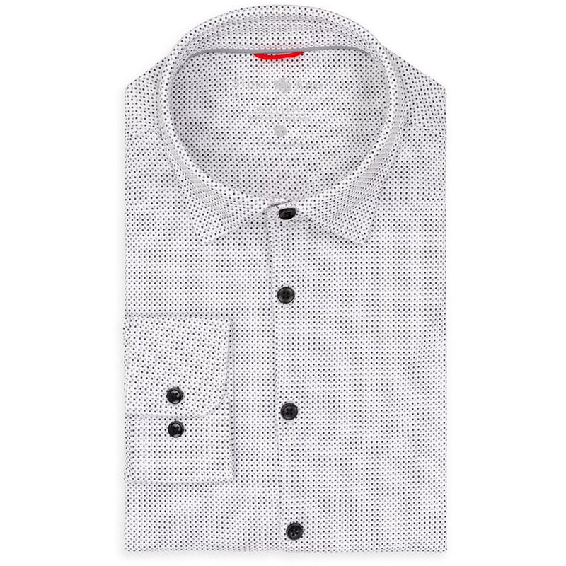 Polka Dot Knit Performance Long Sleeve Shirt