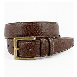 Italian Shrunken Pebbled Glove Leather Belt