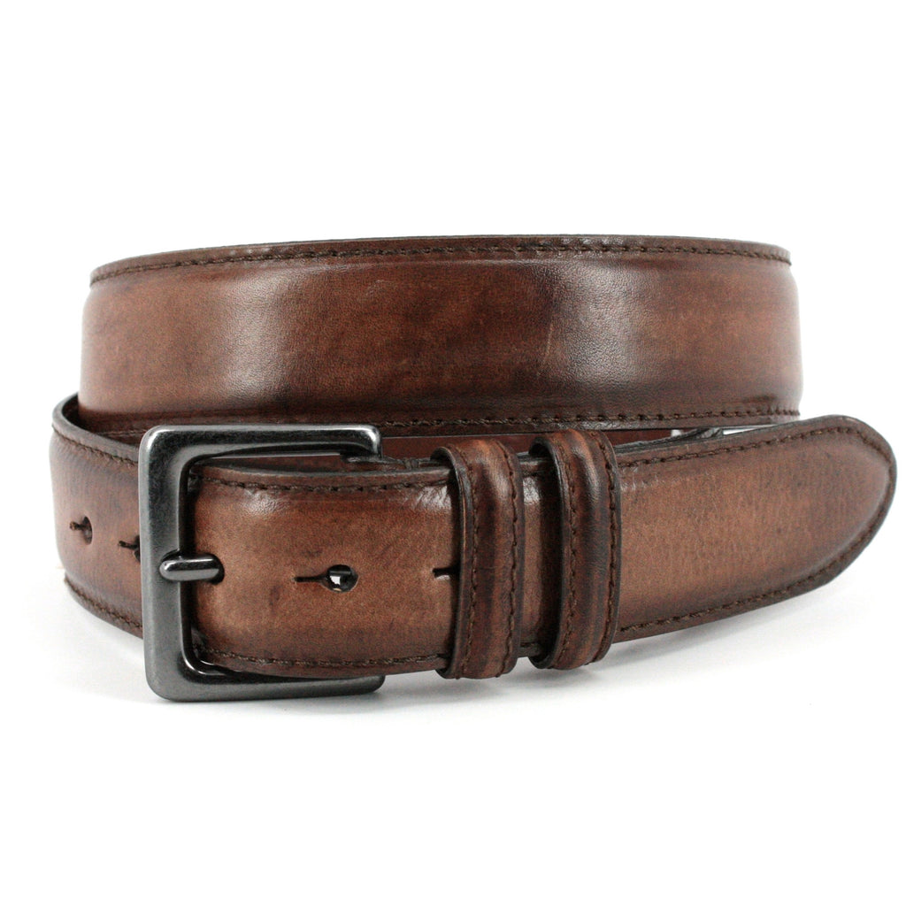 Italian Antiqued Shrunken Cowhide Shoulders Belt