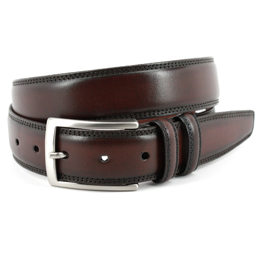 Hand Stained Italian Kipskin Belt