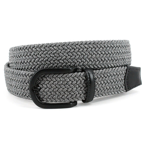 Italian Mini Strand Woven Stretch Leather Belt