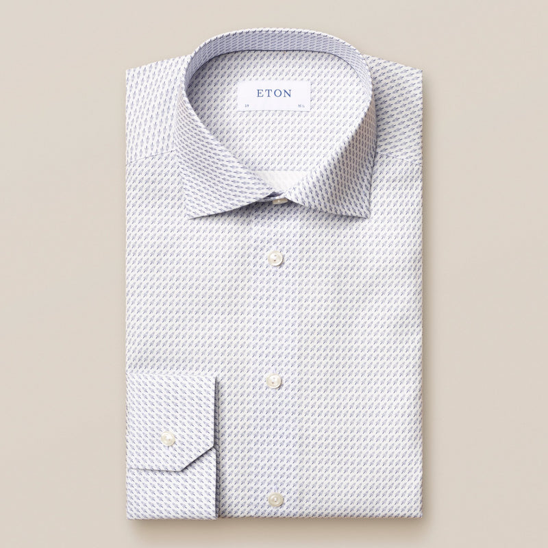 Rocket Print Poplin Dress Shirt