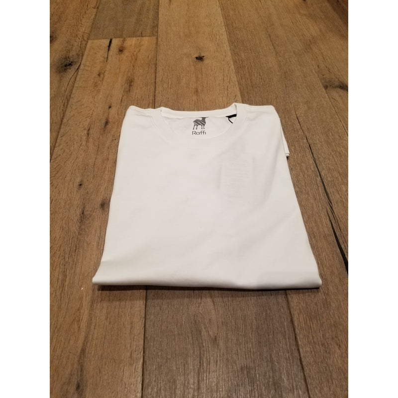 Aqua Cotton Crew Neck Tee