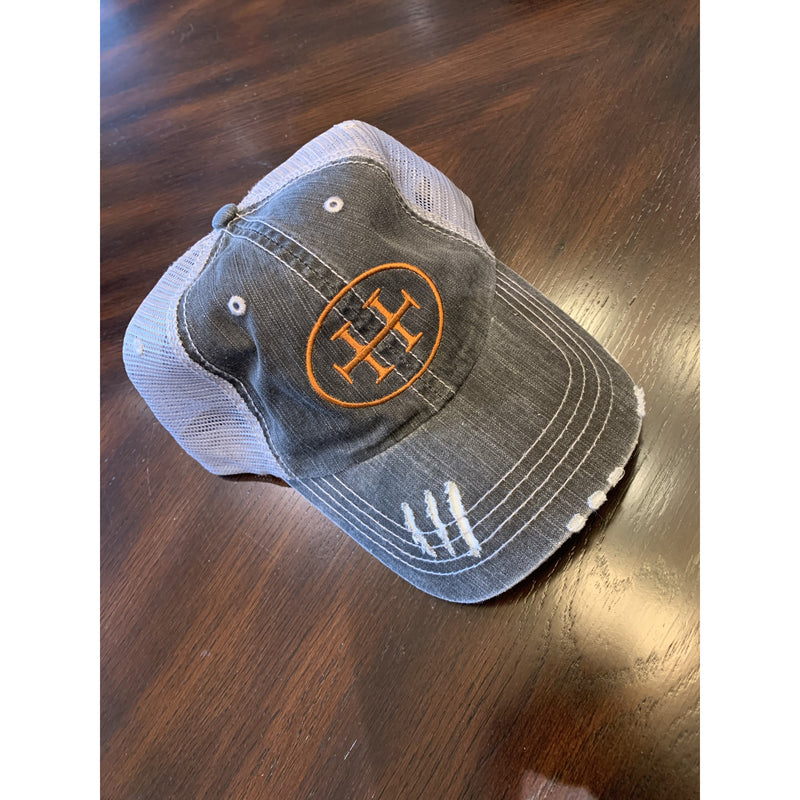 """H"" Logo Worn Trucker Hat"