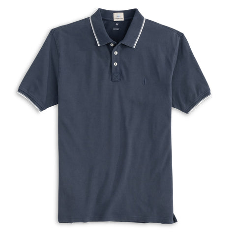Solid Stretch Jersey Long Sleeve Polo