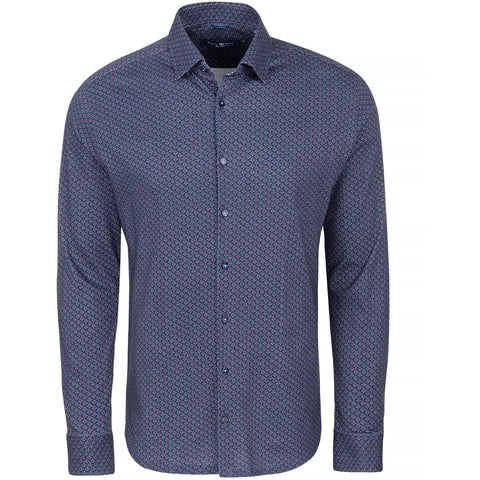 Check Performance Knit Long Sleeve Shirt