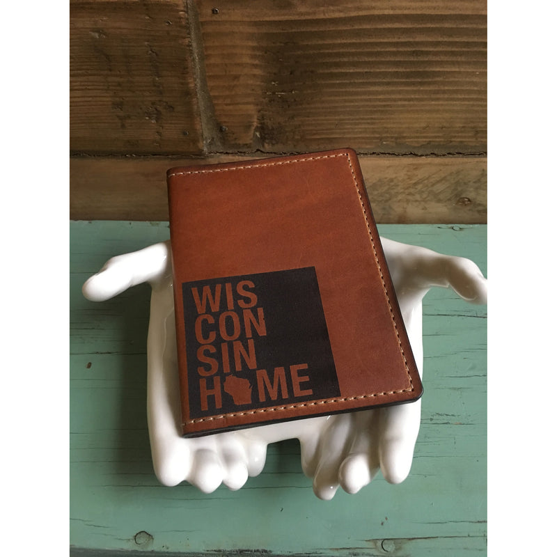 Wisconsin Home Leather Passport Wallet
