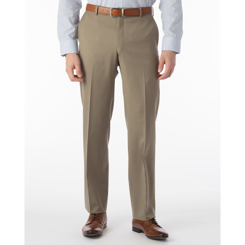 Classic Fit Flat Front 100% Wool Dress Pant