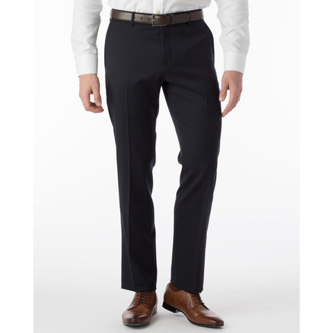 100% Wool Traditional Fit Flat Front Dress Pant