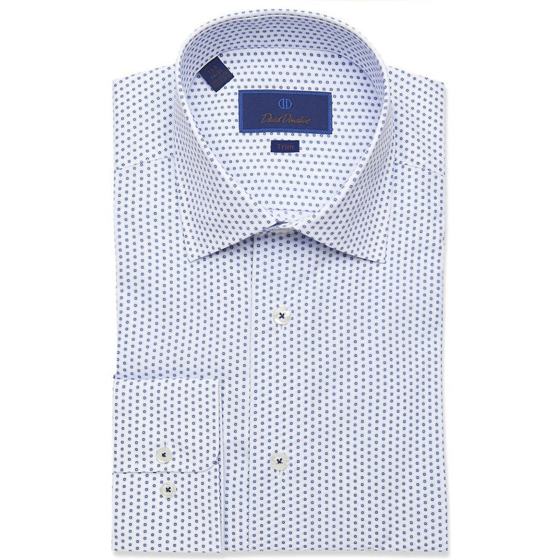 Trim Fit Medallion Print Dress Shirt