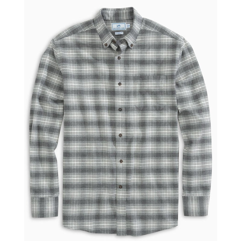 BRUSHED OXFORD PLAID BUTTON DOWN SHIRT