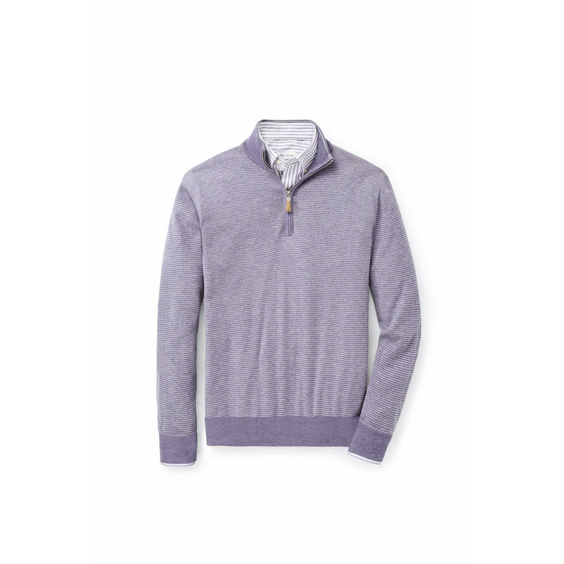 Needle-Stripe 1/4 Zip Sweater