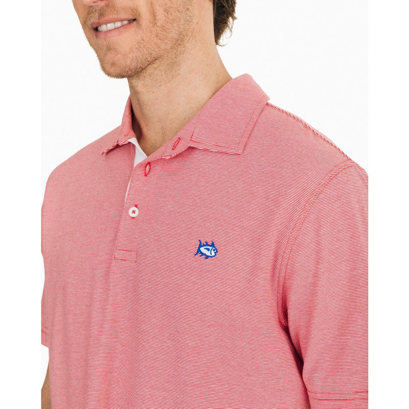 Channel Marker Micro-Striped Polo Shirt