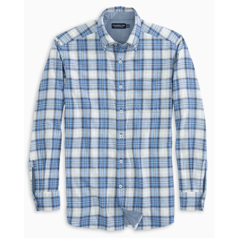 PLAID CHAMBRAY SPORT SHIRT