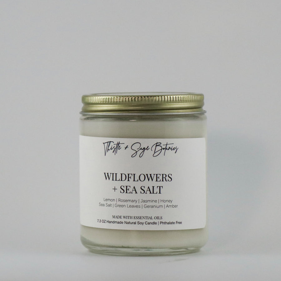 Wildflowers + Sea Salt Soy Candle