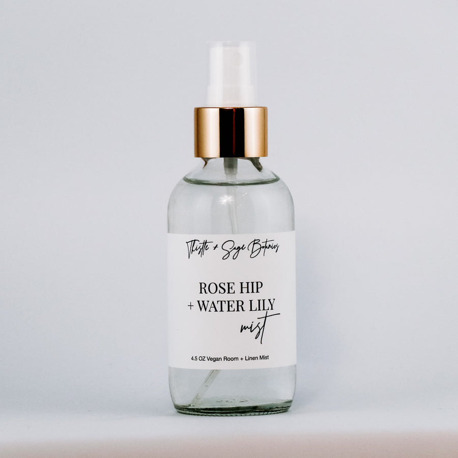 Rose Hip + Water Lily Linen + Room Mist