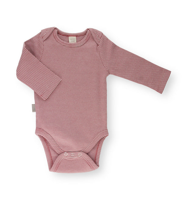Fave Long Sleeve Onesie ~ Natural Rose Brown Striped