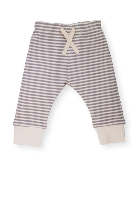 Fave Pants ~ Natural Sleet Striped with Natural Ankle Cuff
