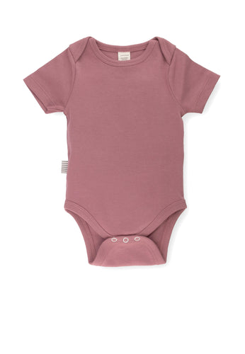 Fave Short Sleeve Onesie ~ Rose Brown