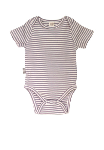 Fave Short Sleeve Onesie ~ Natural Sleet Stripe