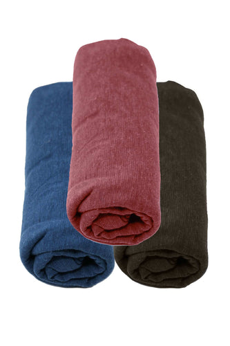 Hemp & Cotton Swaddle Blankets - 3 Pack