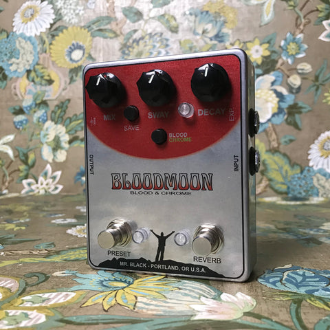 Mr. Black Bloodmoon Blood & Chrome Stereo Reverb