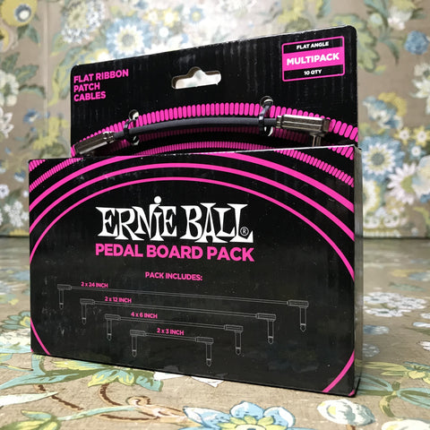 Ernie Ball Flat Ribbon Patch Cables Multi-Pack