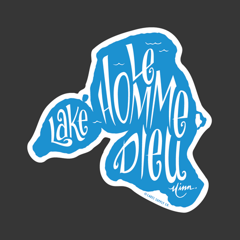 Lake Le Homme Dieu Sticker