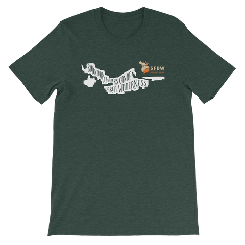 boundary waters canoe area t-shirt