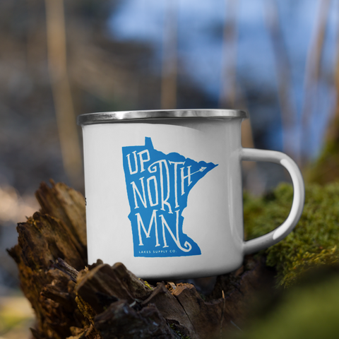 Up North MN Enamel Mug