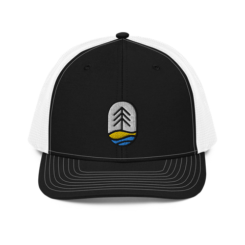 fish-tree-snapback-trucker-hat-front