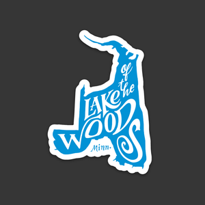 Lake of the Woods Minnesota sticker by Lakes Supply Co.