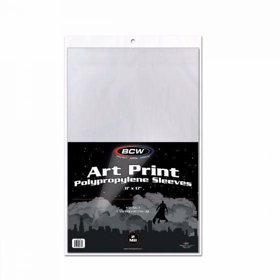 BCW 11x17 Print Sleeves 100ct | Eastridge Sports Cards