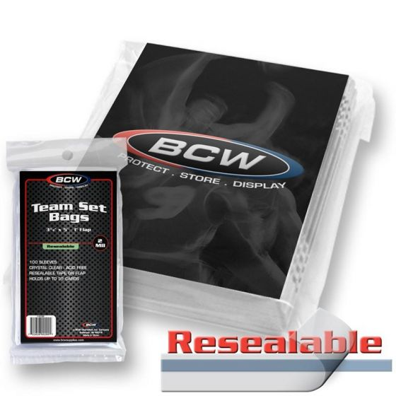 BCW Resealable Team Set Bags | Eastridge Sports Cards