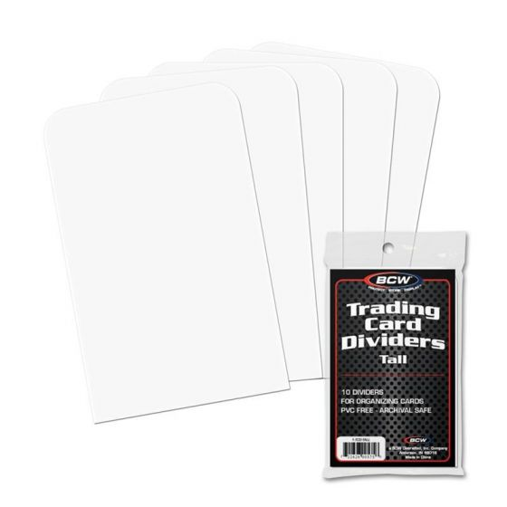 BCW Tall Trading Card Dividers | Eastridge Sports Cards
