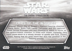 2019 Star Wars Empire Strikes Back Black and White - Sepia #107 - Cries of the Wookiee | Eastridge Sports Cards